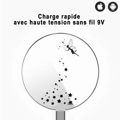 Chargeur sans fil à induction blanc Fée, Evetane®