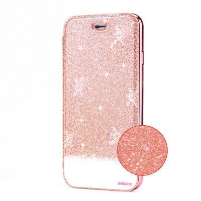 Etui Paillette Samsung Galaxy S8 paillettes rose gold, Chute de flocons, Evetane®