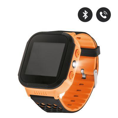 Montre connectée orange pour enfants avec GPS