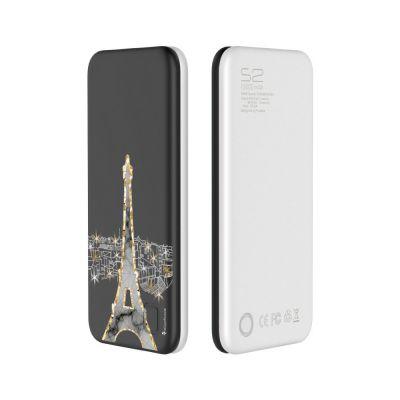 Batterie externe de secours 10 000mAh Grise - Illumination de Paris
