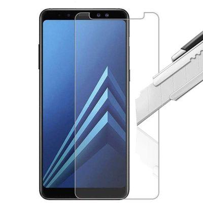 Vitre protectrice intégrale en verre trempé pour Samsung Galaxy A8 2018