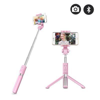 Perche selfie et trépied Rose