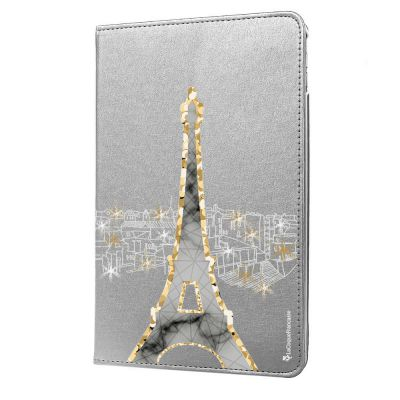Etui iPad Mini rigide argent, Illumination de paris, La Coque Francaise®