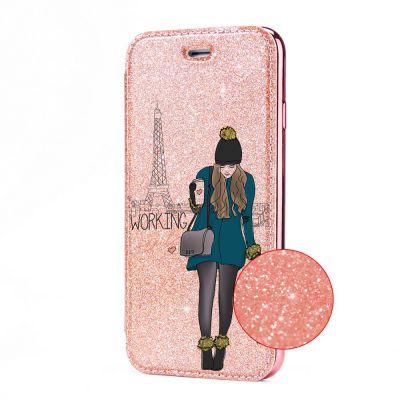 Etui Paillette Samsung Galaxy S8 paillettes rose gold, Working girl, La Coque Francaise®