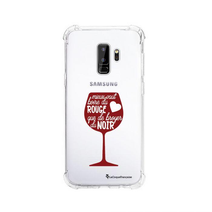 Coque Samsung Galaxy S9 Plus anti-choc souple angles renforcés transparente Mieux Vaut Boire La Coque Francaise. - Coquediscount
