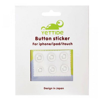 Yettide stickers Bouton pour iPhone 3G / 3GS / 4 / 4S / 5 / 5S / 5C / IPAD