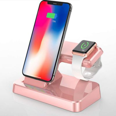 Support de charge Rose Gold Apple Watch et iPhone
