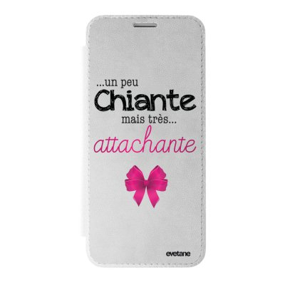 Etui iPhone X/ Xs argent Un peu chiante tres attachante Ecriture Tendance et Design Evetane