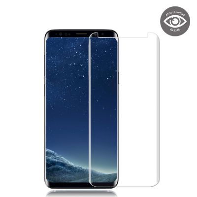Vitre de protection en verre trempé anti-lumière bleue Samsung Galaxy S9
