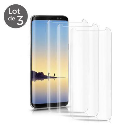 Lot de 3 vitres de protection en verre trempé pour Samsung Galaxy S8