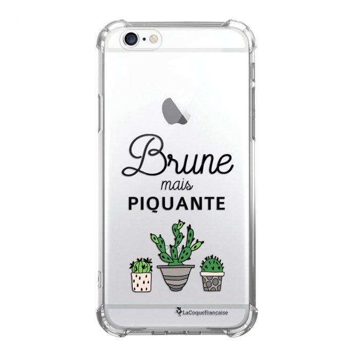 coque iphone 6 iphone 6s anti choc souple avec angles renforces transparente brune mais piquante la coque francaise