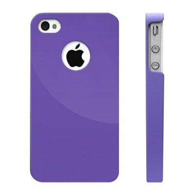 Moxie Coque violette rubber hublot iPhone 4
