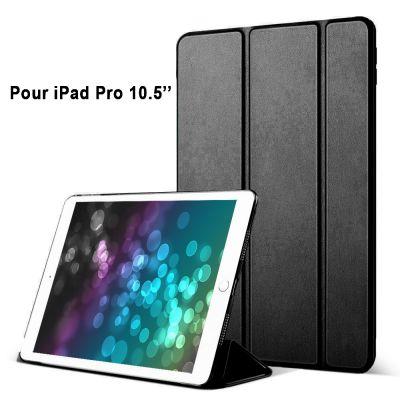 Etui smart cover avec coque noir Pour iPad Pro 10,5 : A1701-A1709-A1852