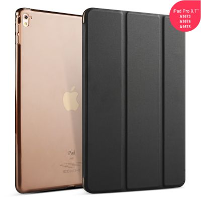 Etui smart cover avec coque noir Pour iPad Pro 9,7: A1673 -A1674 -A1675
