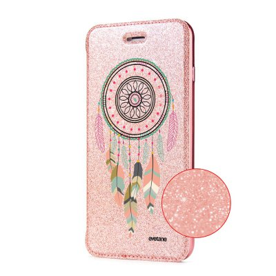 Etui Paillette iPhone 7/8 paillettes rose gold, Attrape rêve pastel