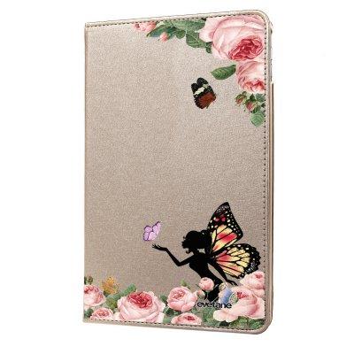 Etui iPad Air rigide or Fée papillon fleurale Ecriture Tendance et Design Evetane