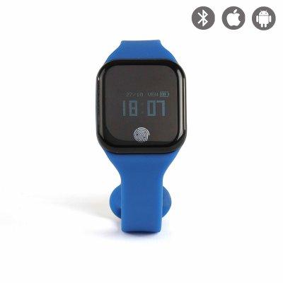 Bracelet connecté Bluetooth cardio fréquencemètre - Bleu