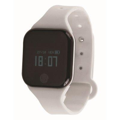Bracelet connecté Bluetooth cardio fréquencemètre - Blanc