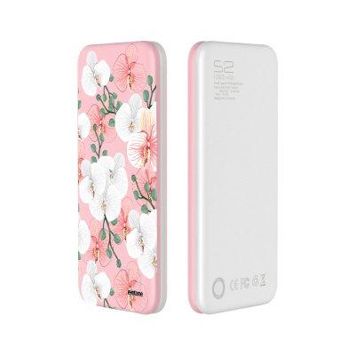 Batterie Batterie Grise 10 000mAh rose Orchidées Motif Ecriture Tendance Evetane