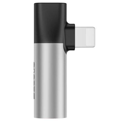 Adaptateur lightining et audio compatible avec iPhone - Argent
