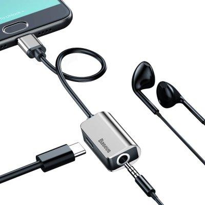 Adaptateur USB Type C à USB et mini jack 3,5mm - Argent