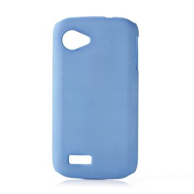 Coque rigide bleue clair toucher gomme pour Wiko Cink Slim