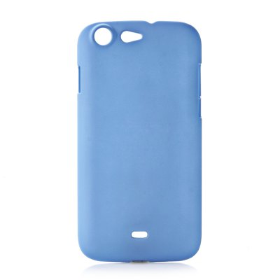 Coque rigide bleue clair toucher gomme pour Wiko Stairway