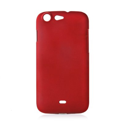 Coque rigide rouge toucher gomme pour Wiko Stairway