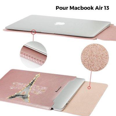 Etui Macbook Air 13 pouces Illumination de paris Ecriture Tendance et Design La Coque Francaise
