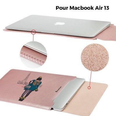 Etui Macbook Air 13 pouces Working girl Ecriture Tendance et Design La Coque Francaise
