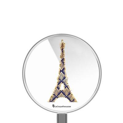 Chargeur Induction blanc Tour Eiffel Art Déco Ecriture Tendance et Design La Coque Francaise