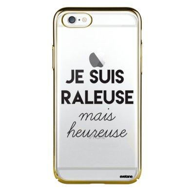 Coque iPhone 6 Plus / 6S Plus bumper or Raleuse Mais Heureuse Ecriture Tendance et Design Evetane