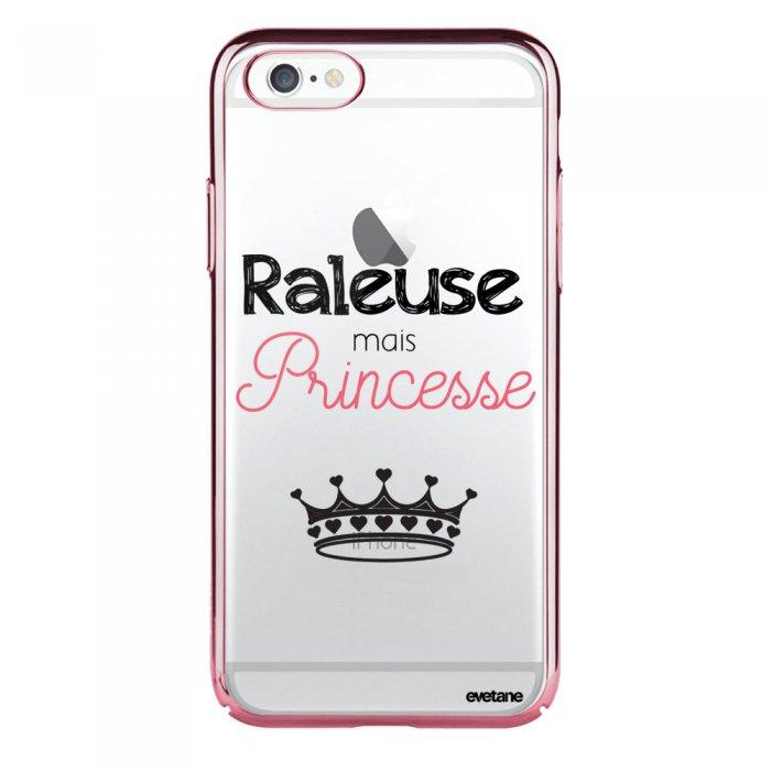 coque iphone 6 plus 6s plus bumper rose gold raleuse mais princesse evetane