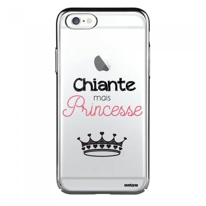 Coque iPhone 6 Plus / 6S Plus bumper argent Chiante mais princesse Ecriture Tendance et Design Evetane - Coquediscount
