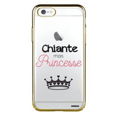 Coque iPhone 6 Plus / 6S Plus bumper or Chiante mais princesse Ecriture Tendance et Design Evetane