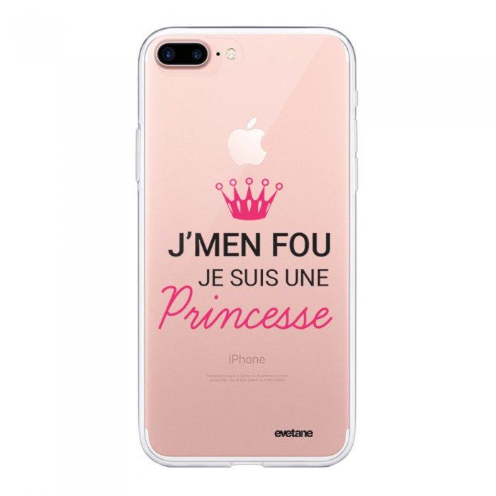 coque iphone 7 plus 8 plus souple transparente je suis une princesse evetane