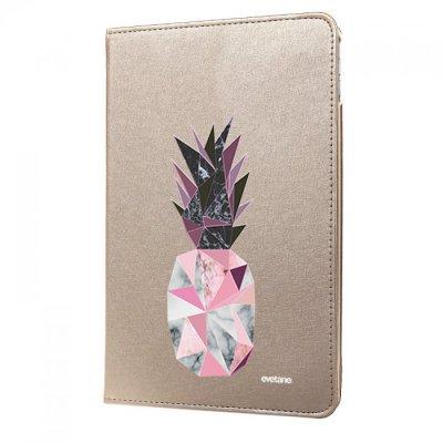 Etui iPad Air rigide or Ananas geometrique marbre Ecriture Tendance et Design Evetane