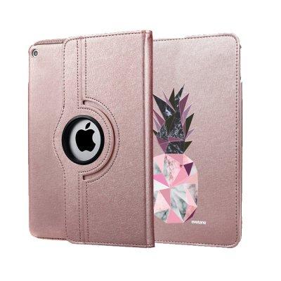Etui iPad 2/3/4 rigide rose gold Ananas geometrique marbre Ecriture Tendance et Design Evetane