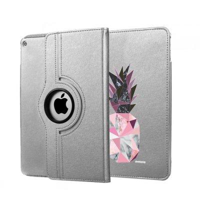 Etui iPad Air rigide argent Ananas geometrique marbre Ecriture Tendance et Design Evetane