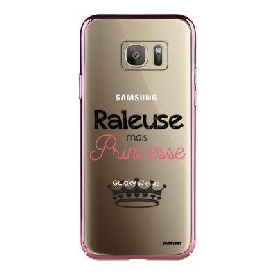Coque Samsung Galaxy S7 Edge bumper rose gold Raleuse mais princesse Ecriture Tendance et Design Evetane