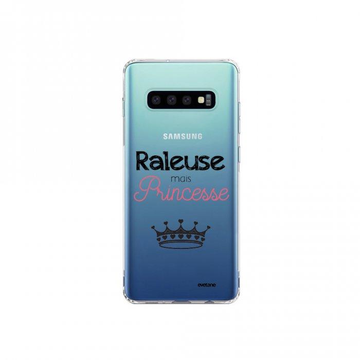 Coque Samsung Galaxy S10 Plus souple transparente Raleuse mais princesse Motif Ecriture Tendance Evetane - Coquediscount