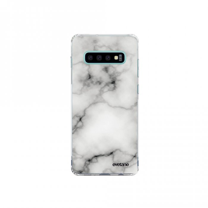 Coque Samsung Galaxy S10 Plus souple transparente Marbre blanc Motif Ecriture Tendance Evetane - Coquediscount