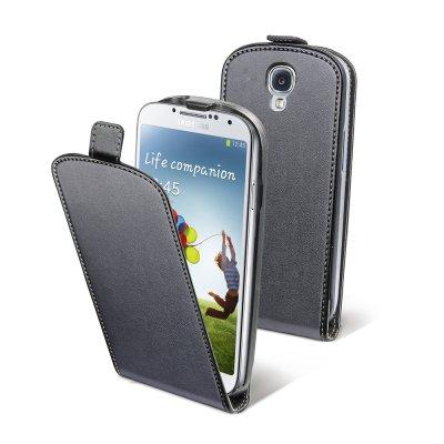 Muvit étui slim noir lisse avec film pour Samsung Galaxy S4 I9500