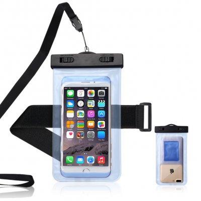 Etui waterproof smartphone avec brassard - Bleu