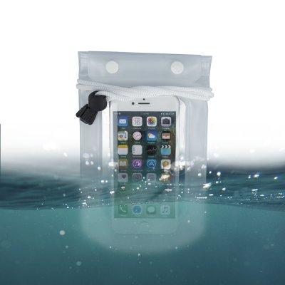 Etui smartphone waterproof universel à cordes étanche - Transparent