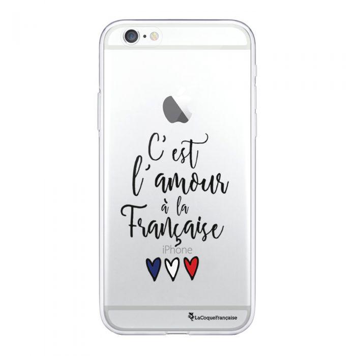 coque compatible avec iphone 6 iphone 6s souple transparente c est l amour a la francaise ecriture tendance et design