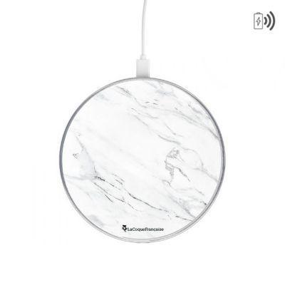 Chargeur sans fil à induction Compatible avec Chargeur à induction blanc Marbre gris