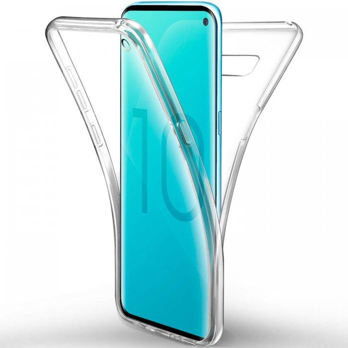 Coque Galaxy S10 PLUS Samsung 360 degrés intégrale protection avant arrière silicone transparente