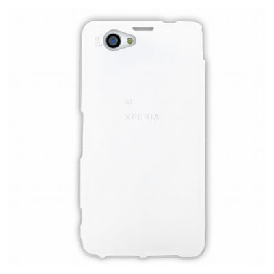 Mocca coque gel frost blanche pour Sony Xperia Z1 S