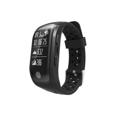 Montre sport GPS connectée avec tracker de sommeil-noire